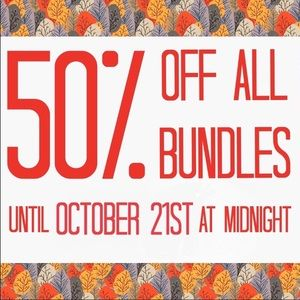 🍁FALL FLASH SALE! 50% BUNDLES 3+ Items!